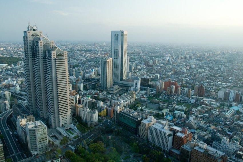 The Park Hyatt building in Tokyo