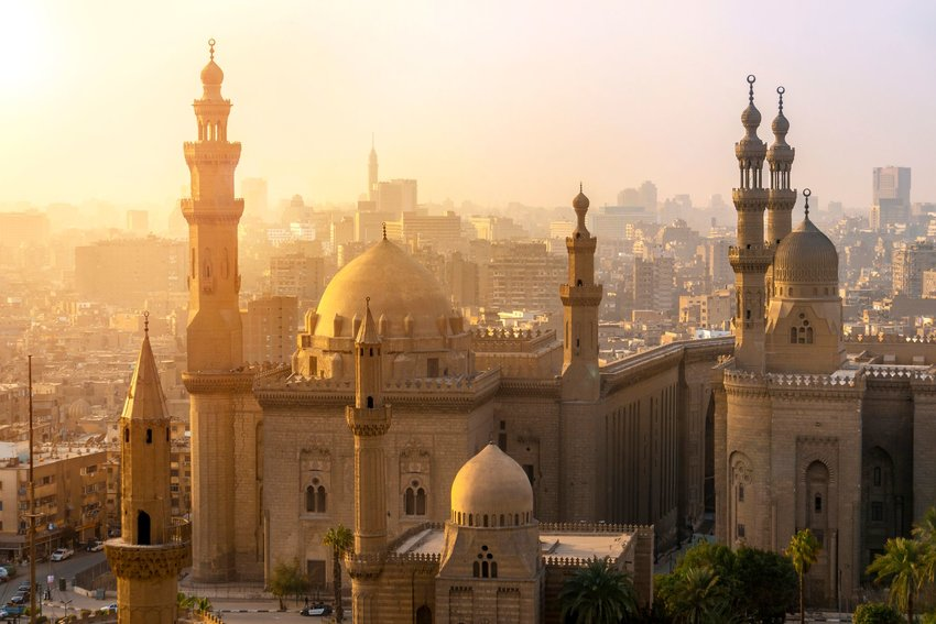 Mosques and skyscrapers in Cairo
