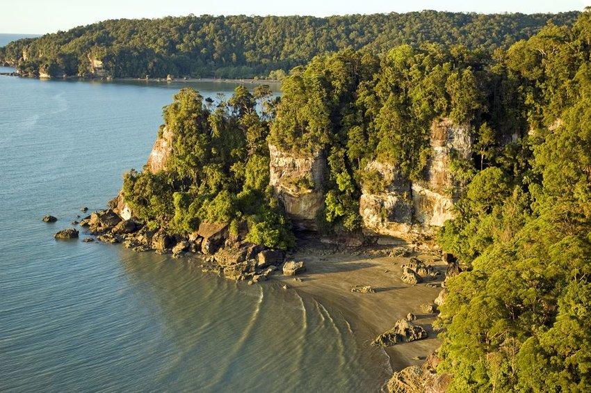 Coast line of Bako National Park