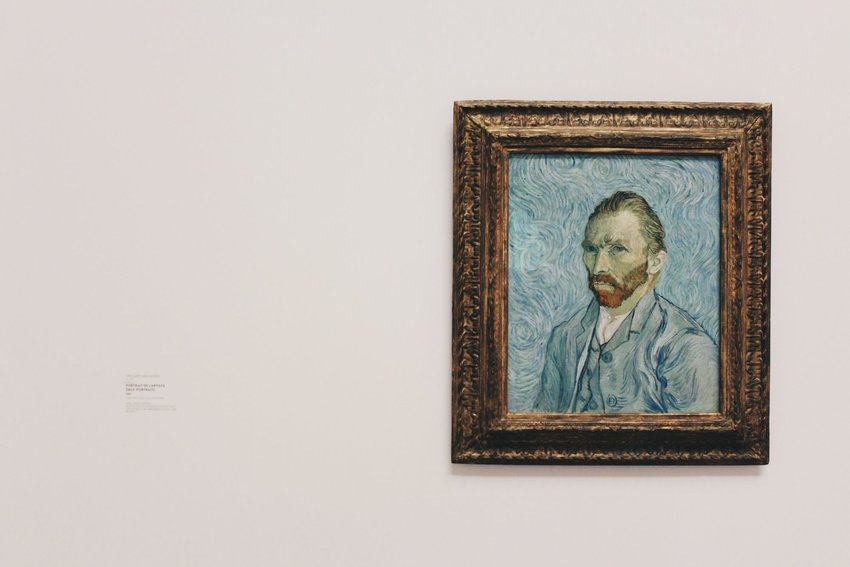 Van Gogh's self-portrait in a golden frame