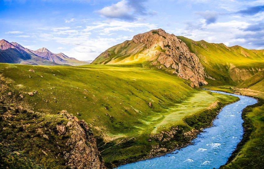 Mountain river stream valley scenery landscape
