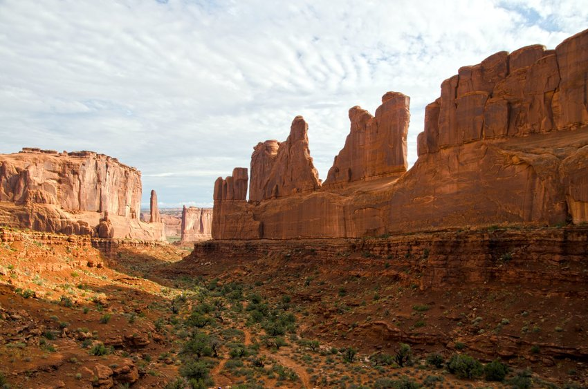 View of Park Avenue Trail in Utah
