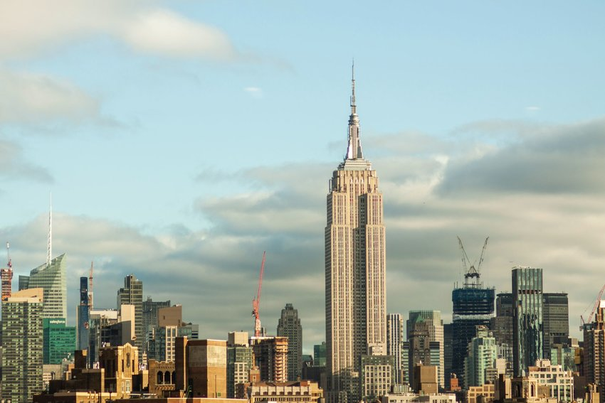 View of the Empire State Building in New York City