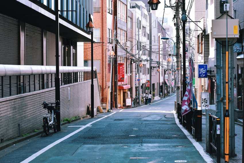 Empty streets of Bunkyo