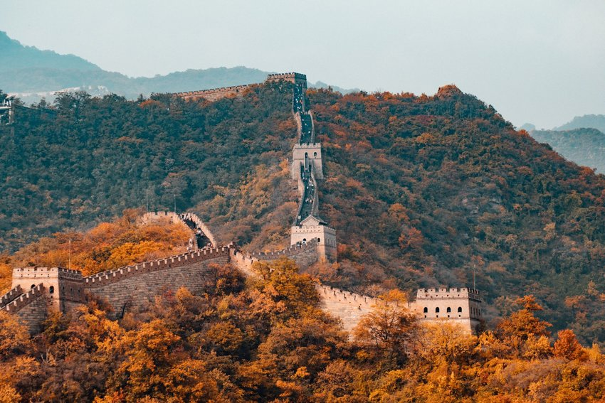 The Great Wall of China in fall