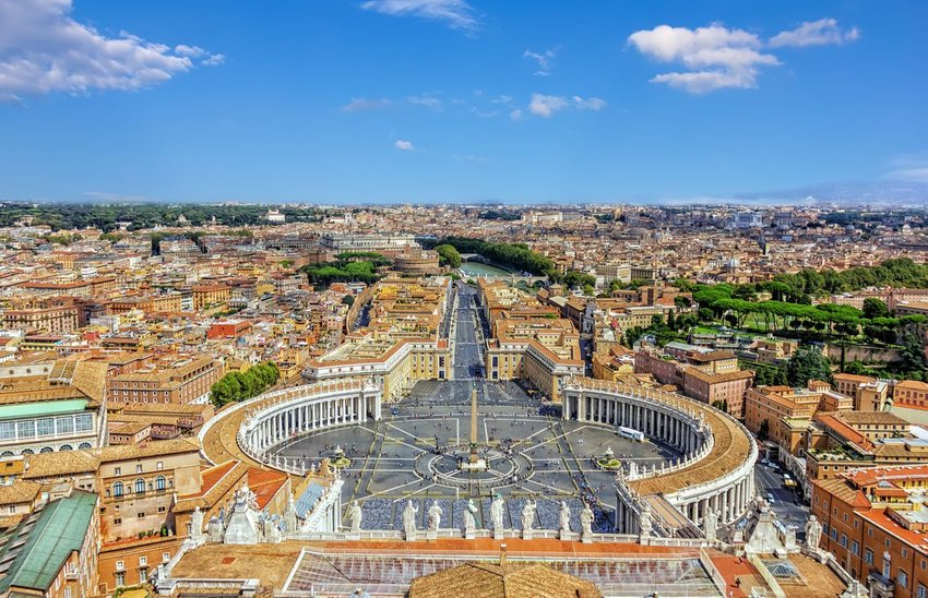 Vatican City, Rome seen from above