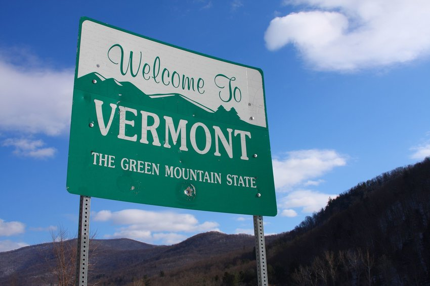 Welcome sign in Vermont