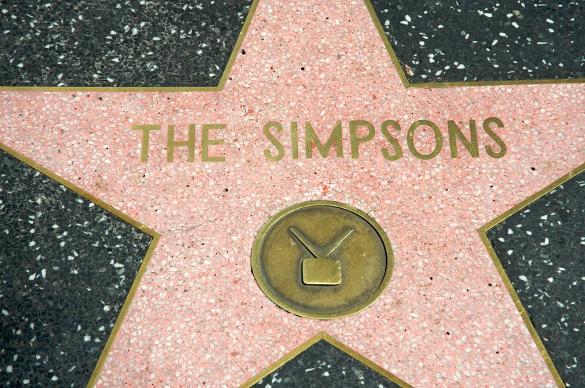 The Hollywood walk-of-fame star for the television series The Simpsons.