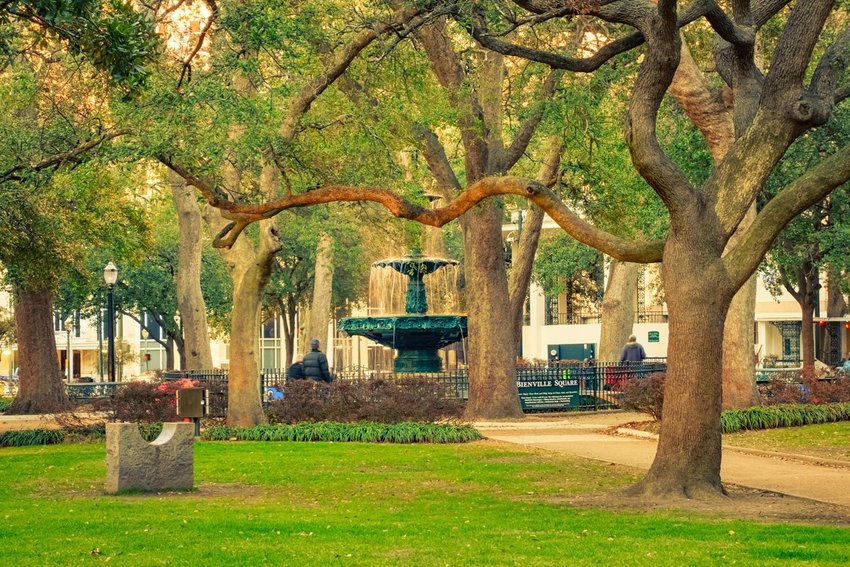 Bienville Square in downtown Mobile, Alabama