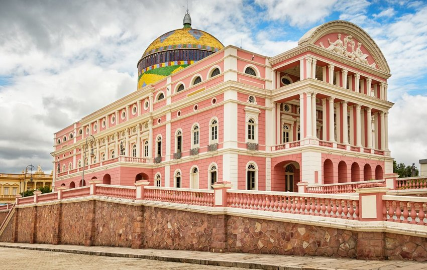 Amazon Theatre (Teatro Amazonas), located in Manaus, in the heart of the Amazon rainforest in Brazil