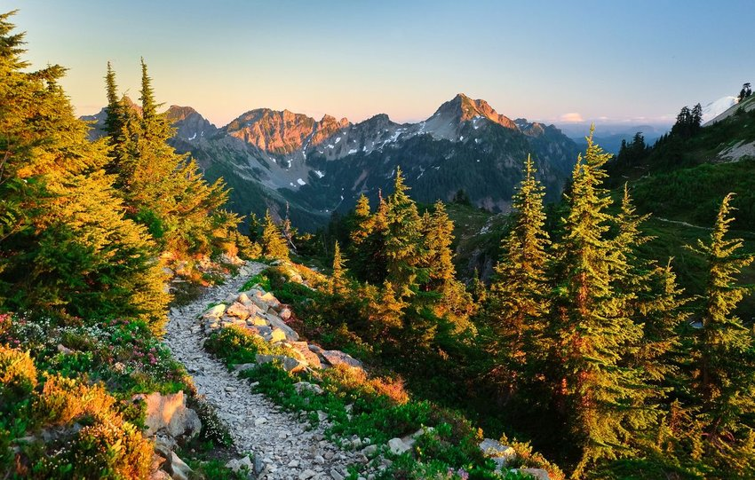 The Pacific Crest Trail near Snoqualmie Pass