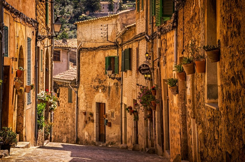 Street in Valldemossa, Spain