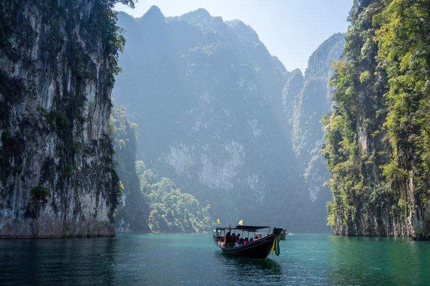 Boat in Khao Sok National Park, Khlong Sok, Thailand
