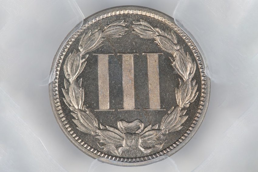 A collector's three-cent coin