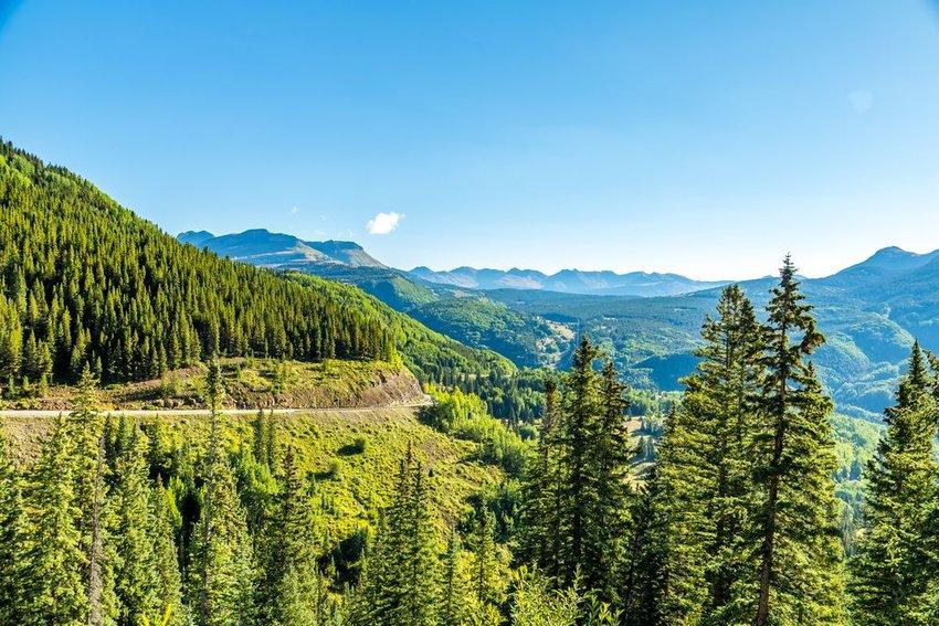 The San Juan Skyway forms a 233 mile loop in southwest Colorado