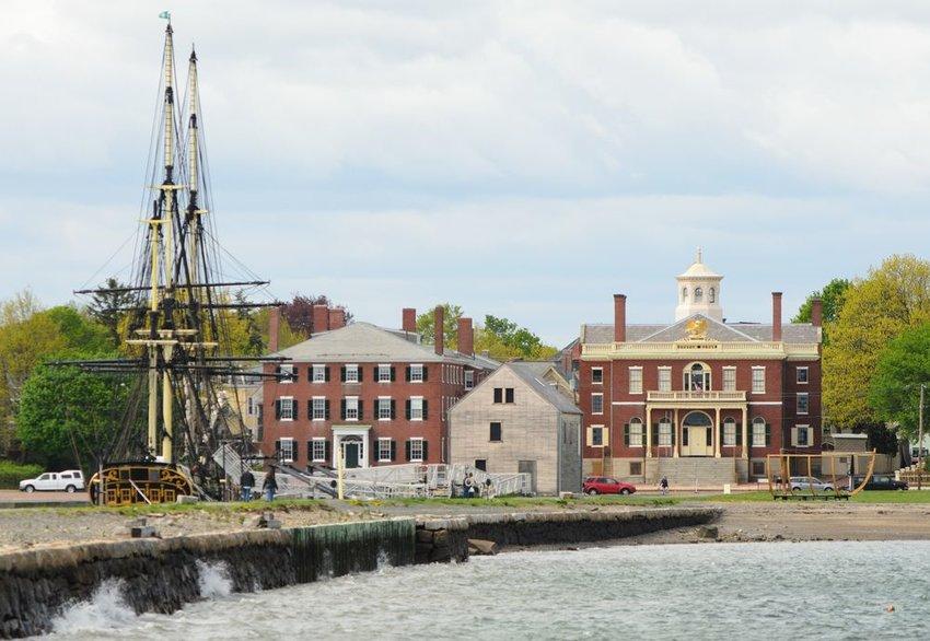 View of boat in Salem, Massachusetts
