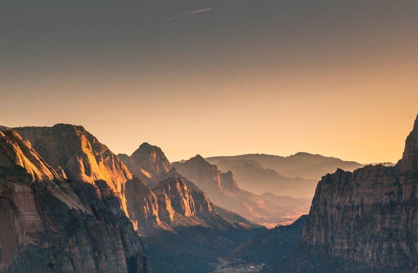 Canyon in Utah at sunset