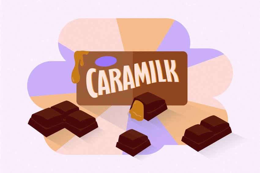 Digital illustration of Caramilk