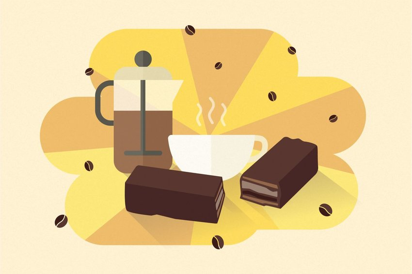 Digital illustration of coffee crisp