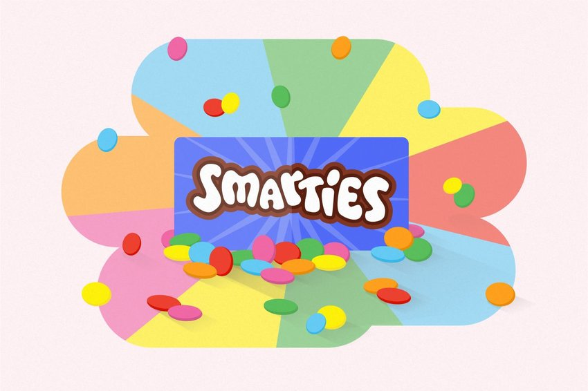 Digital illustration of Smarties
