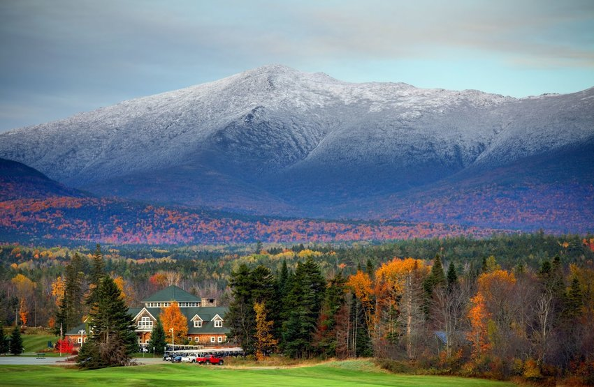 Mount Washington in New Hampshire in the fall
