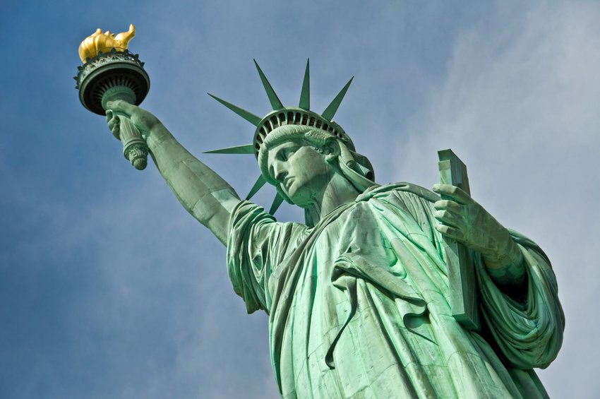 Closeup of the Statue of Liberty