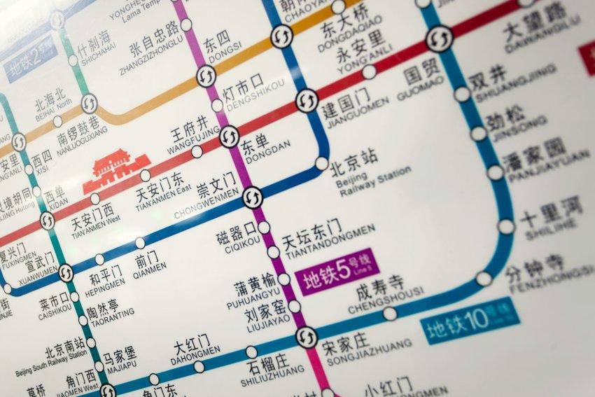 China subway map