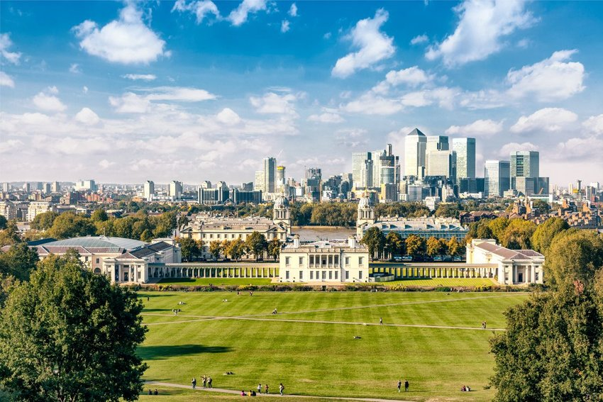 Greenwich park in London, England