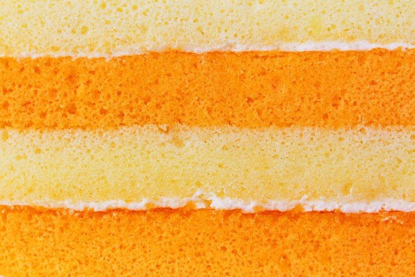 Close up of layered cake