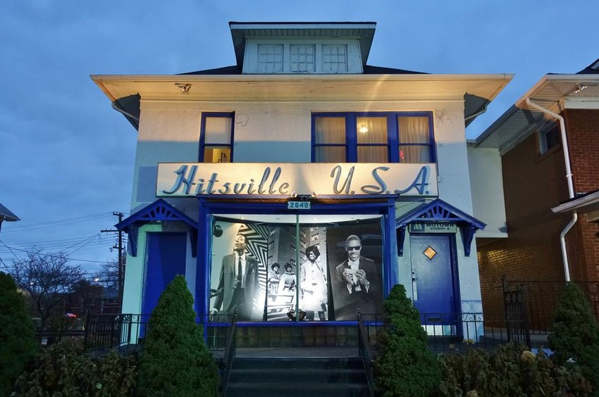 Hitsville U.S.A. in Michigan at dusk