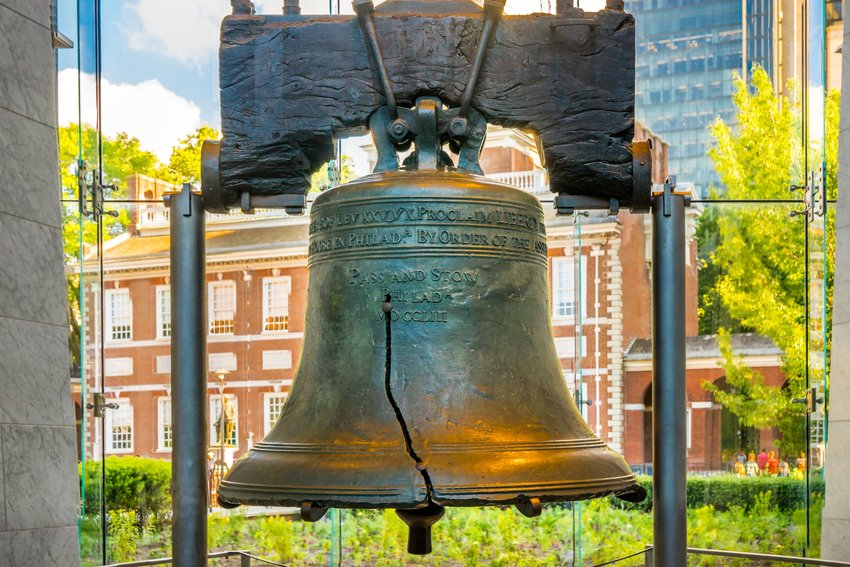 The Liberty Bell in Pennsylvania