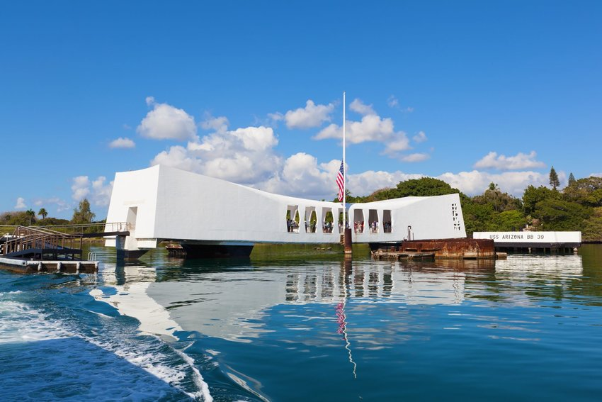 USS Arizona Memorial at Pearl Harbor, Hawaii