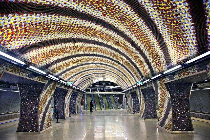 Budapest underground subway