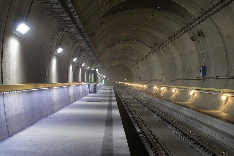 Interior of Gotthard Base Tunnel