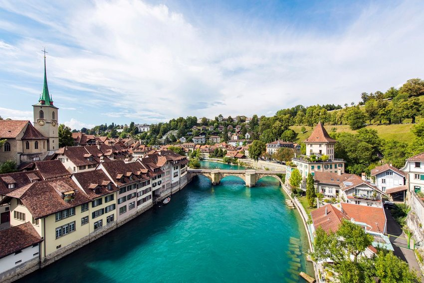 The Old City of Bern, Switzerland from above