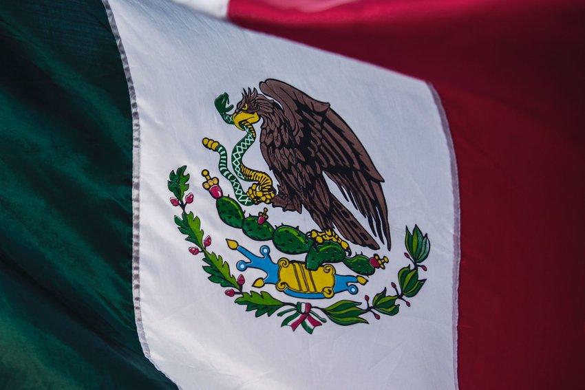 Close up of Mexico flag