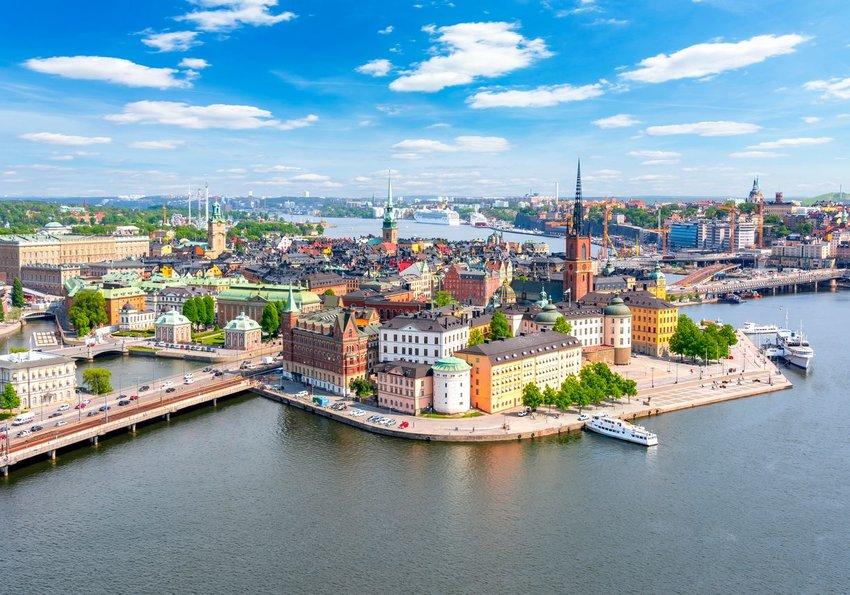 Stockholm old town in Sweden