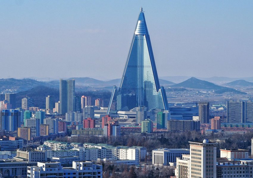 Ryugyong Hotel in North Korea