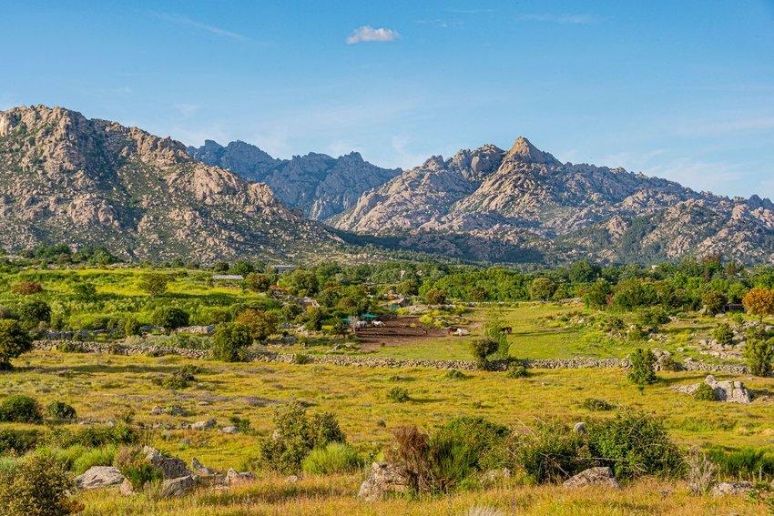 The Sierra de Guadarrama mountains in Spain