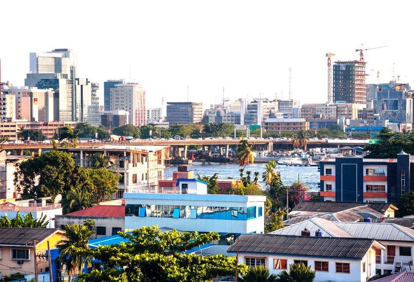 Cityscape in Lagos, Nigeria
