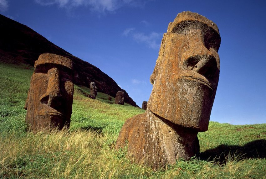 Two Moai's in Easter Island