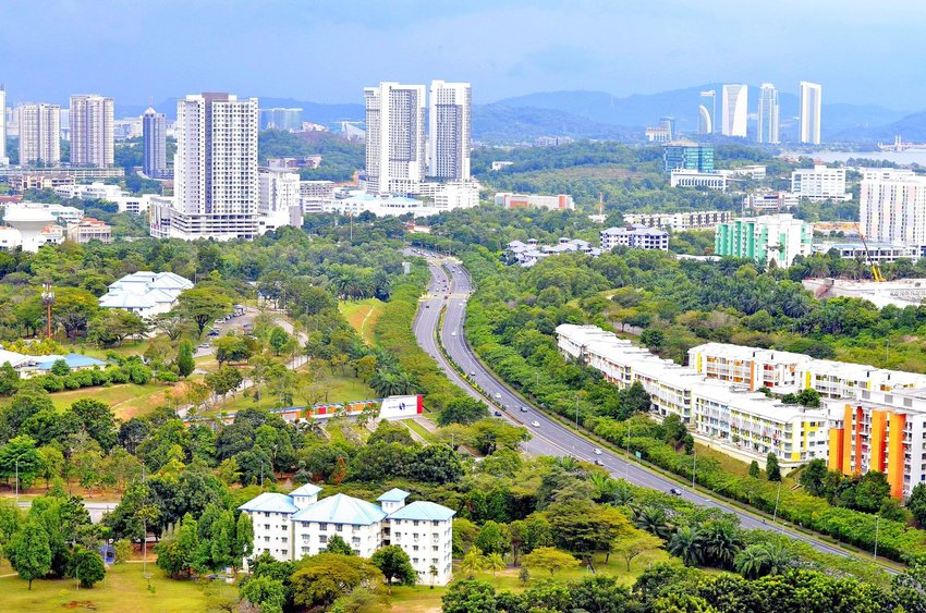 City view of Cyberjaya, Selangor, Malaysia