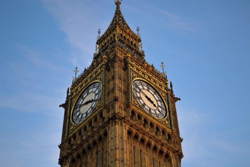 Big Ben clock tower in Great Britain
