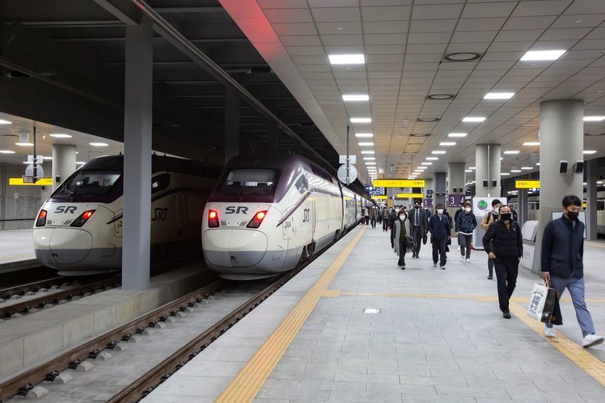 Suseo High Speed Railway station in South Korea