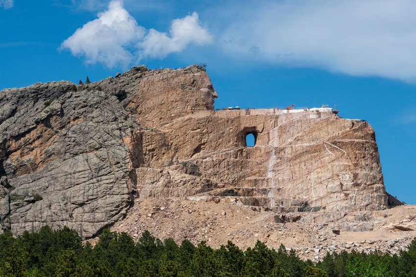 View of Crazy Horse Memorial