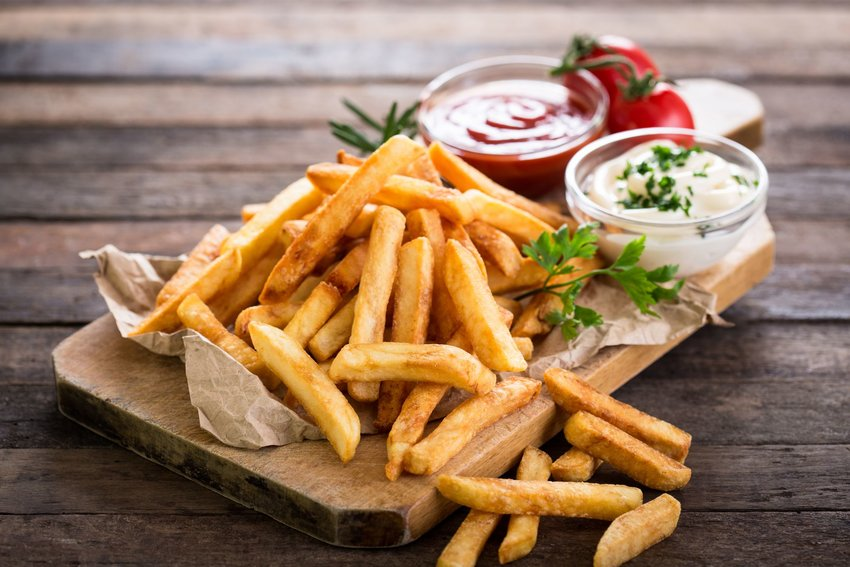 Plate of pommes frites
