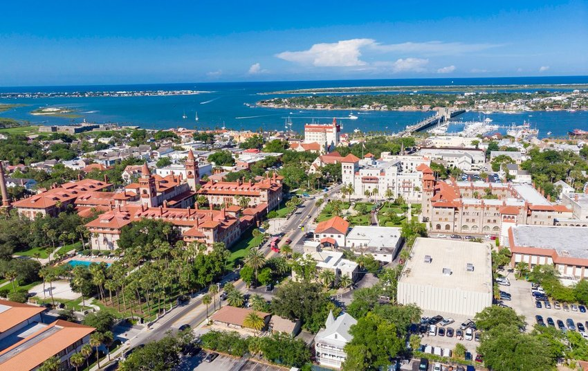 Aerial view of St. Augustine, Florida