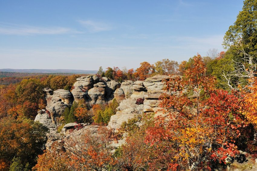 Camel Rock in Garden of the Gods Wilderness in Southern Illinois