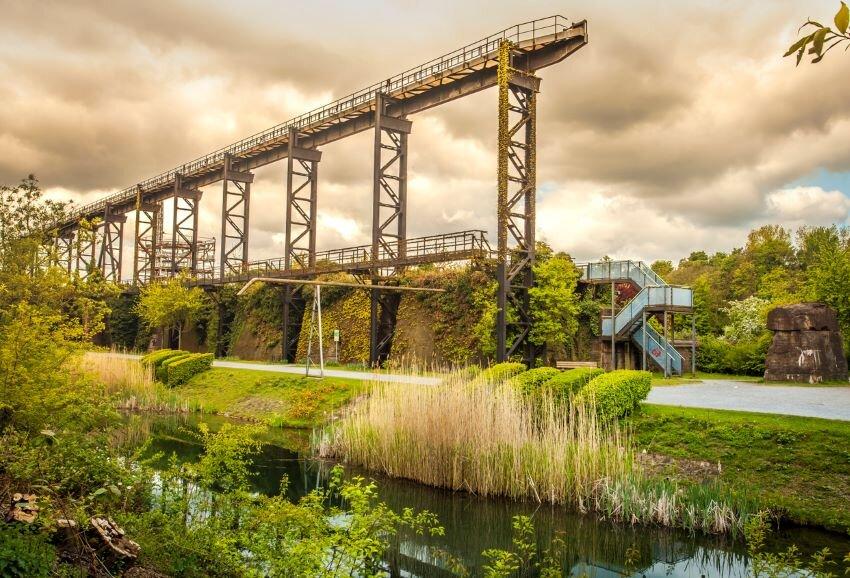 Landscape Park Duisburg North Industrial Culture park Germany.