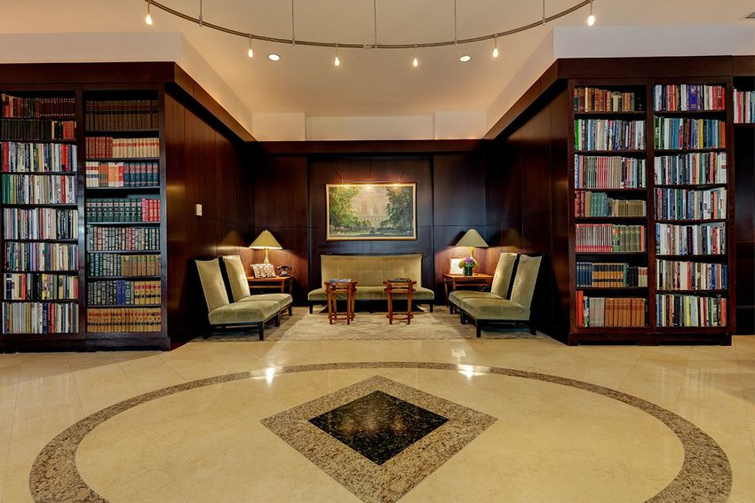 Lobby of the Library Hotel in Manhattan, New York